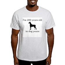 40 birthday dog years doberman T-Shirt