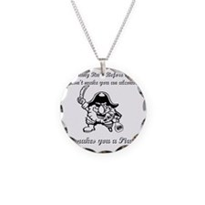pirate rum Necklace Circle Charm