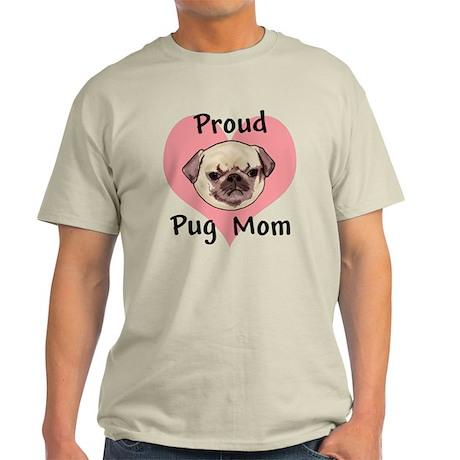 Proud Pug Mom Light T-Shirt