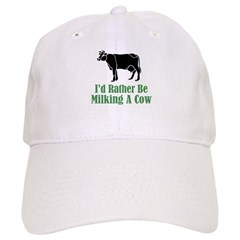 Milking A Cow Baseball Cap