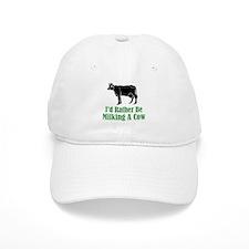 Milking A Cow Baseball Cap