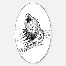 Swamp Bear Art chainsaw bear Decal