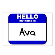 hello my name is ava  Postcards (Package of 8)