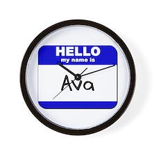 hello my name is ava  Wall Clock
