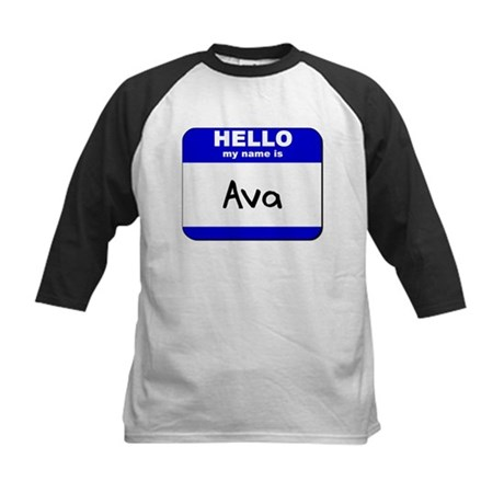 hello my name is ava Kids Baseball Jersey