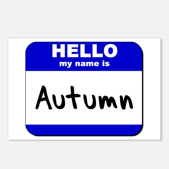 hello my name is autumn  Postcards (Package of 8)