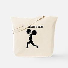 Custom Weightlifter Silhouette Tote Bag