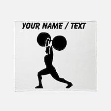 Custom Weightlifter Silhouette Throw Blanket