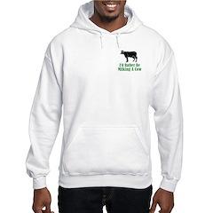 Milking A Cow Hoodie