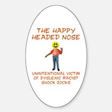 Happy Headed Nose Oval Decal