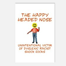 Happy Headed Nose Postcards (Package of 8)