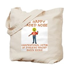 Happy Headed Nose Tote Bag