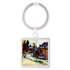 Robert Delaunay - Road in Laon. De Square Keychain