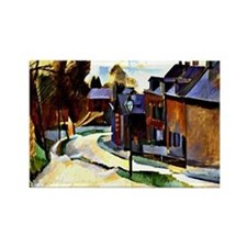 Robert Delaunay - Road in Laon. D Rectangle Magnet