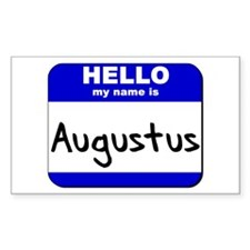 hello my name is augustus Rectangle Decal