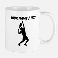 Custom Tennis Player Silhouette Mugs