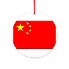 China Flag Ornament (Round)