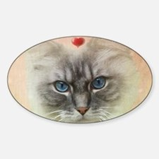 Valentine Cat Decal