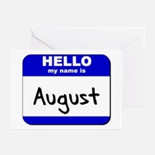 hello my name is august  Greeting Cards (Package o
