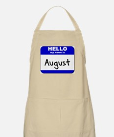 hello my name is august  BBQ Apron