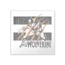 "Wolverine Scratch Square Sticker 3"" x 3"""
