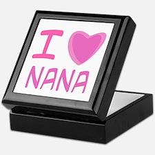 Pink I Heart (Love) Nana Keepsake Box