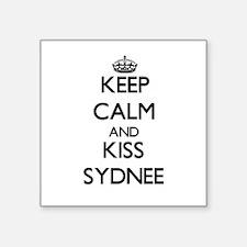 Keep Calm and kiss Sydnee Sticker