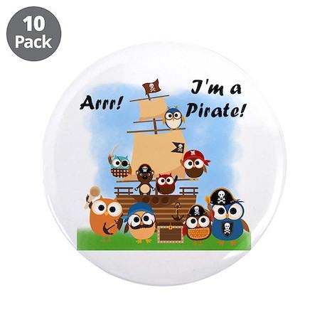 """Arrr I'm a Pirate 3.5"""" Button (10 pack)"""
