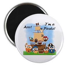 "Arrr I'm a Pirate 2.25"" Magnet (100 pack)"