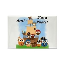 Arrr I'm a Pirate Rectangle Magnet (100 pack)