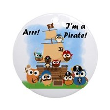 Arrr I'm a Pirate Ornament (Round)