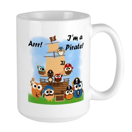 Arrr I'm a Pirate Large Mug