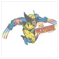Wolverine Attack Wall Art Poster