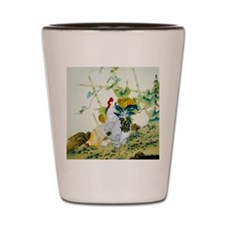 Nature & Rooster Motif Shot Glass
