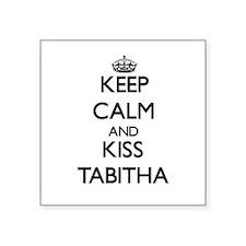 Keep Calm and kiss Tabitha Sticker