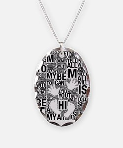 Hi Mommy and Daddy Maternity D Necklace