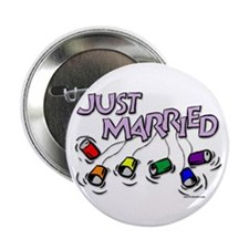 Just Married Gay Rights Button