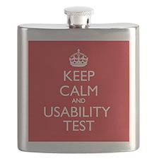 KEEP CALM and USABILITY TEST Flask