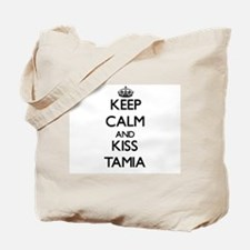Keep Calm and kiss Tamia Tote Bag