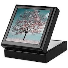 Pink Cherry Blossom Tree Keepsake Box