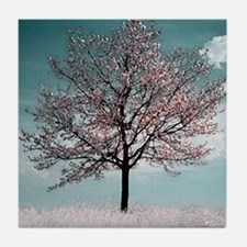 Pink Cherry Blossom Tree Tile Coaster