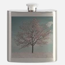 Pink Cherry Blossom Tree Flask