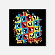 "Wolverine Collage Square Sticker 3"" x 3"""