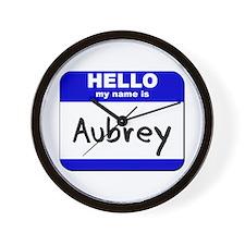 hello my name is aubrey  Wall Clock