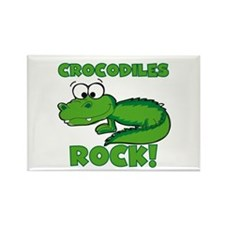 Crocodiles Rock Rectangle Magnet
