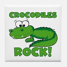 Crocodiles Rock Tile Coaster