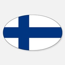 Finland Flag Oval Decal