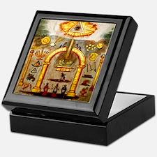 Masonic Apron Keepsake Box