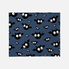 Cute Bat Pattern Throw Blanket