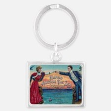 Hands Across The Sea Landscape Keychain